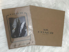 Coach Oxblood Leather Pocket Sticker Cell Phone Wallet Card Case F24051 GIFT BOX