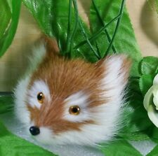 Vivid Fox head  Real Animal Fur Fox head  hand-made kids toys Home decoration