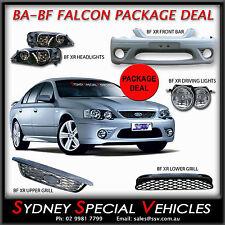 BF FALCON XR6 XR8 FRONT BUMPER BAR HEADLIGHTS GRILLES FOG LIGHTS SEDAN UTE XR