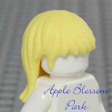 NEW Lego Girl Minifig Long BLONDE HAIR -Friends Female Yellow Straight Head Gear
