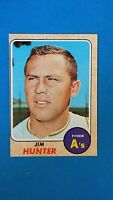 1968 TOPPS BASEBALL #385 JIM HUNTER A'S EXMT OC