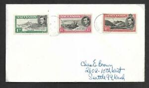 ASCENSION ILDS, INTERNAL PHILATELIC COVER, 3 VALUES USED,