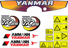 Yanmar Vio 25 bagger-aufkleber-satz