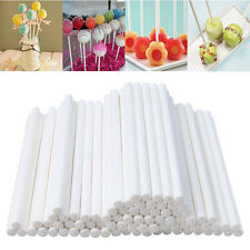 100pcs Pop Sucker Sticks Chocolate Cake Lollipop Lolly Candy Making Mould Paper