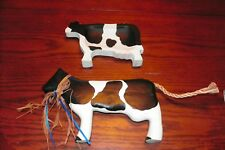 Country Wooden Wall Mount Cow Set