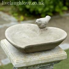 More details for heart shaped terracotta bird bath