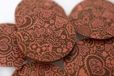 Chocolate Transfer Sheets Red - Chalk Hearts