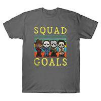 Freddy Krueger Myers Jason Voorhees Squad Goals Vintage Men's Black T-Shirt Tee
