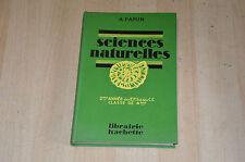 livre scolaire ancien : Sciences Naturelles 2eme année des EPS et des CC / 4e