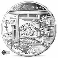 FRANCE FRANCIA 10 EUROS ARGENT BELLE EPREUVE UNESCO JAPON JAPAN MONT FUJI 2020