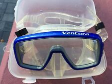 Ventura Blue Silicone Snorkel & Diving Mask Monocle In Blue SeaQuest