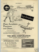 1928 PAPER AD The Bing Toy Co Pause Airplane 2 Page Uncle Sam Bank Register