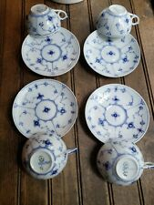 Choose One Royal Copenhagen Denmark Blue Fluted Cup & Saucer 1/76 / 4 available