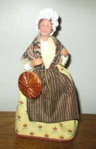 "Vintage 11"" French, Santons de Provence? Terracotta Clay Doll Peasant Woman"