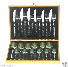 Flatware Set Cutlery Set 24 Pieces with Elegant Golden Gift Box Set