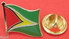 Guyana Country Flag Lapel Hat Cap Tie Pin Badge Brooch Co-operative Republic