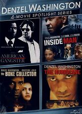 NEW 4 FEATURE DVD // AMERICAN GANGSTER, INSIDE MAN, BONE COLLECTOR, HURRICANE