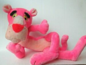 """LARGE POSABLE PINK PANTHER 26"""" PLUSH DOLL Vintage 1980 Mighty Star PD34"""