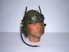 DID Dragon In Dreams 1/6th Scale WW2 U.S. Army Tank Corps Helmet & Mic  - Donald