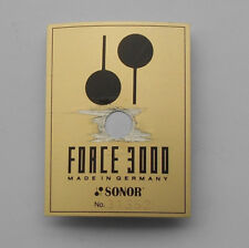 Sonor Force 3000 Metall Logo Badge mit Prägenummer Vintage