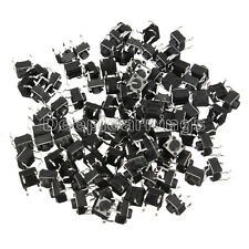 200PCS 6x6x5mm DIP Through-Hole 4pin Tactile Push Button Switch Momentary