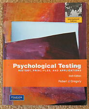 Psychological Testing: History Principles & Applications - RJ Gregory