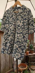 polo ralph lauren hawaiian shirt xl Blue With White Flowers Vintage