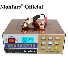 Monfara 12V/24V Car Motorcycle Battery Charger Pulse Repair Type Universal...