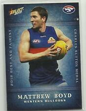2013 AFL CHAMPIONS BF18 MATTHEW BOYD WESTERN BULLDOGS Best and Fairest CARD