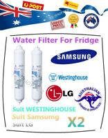 2 x Aqua-Plus SAMSUNG External Inline DA29-10105J HAFEX/EXP Fridge Water Filter