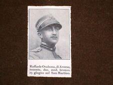 WW1 Prima Guerra Mondiale 1914 - 1918 Caduto Raffaele Orabona di Aversa