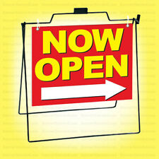 Now Open Metal A Frame Sign Sidewalk Pavement Sign Rb