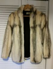 White & Black Mink Coat