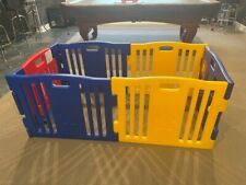 Baby Diego Playzone, Barely Used, Excellent Condition, Blue+Yellow w/ Red Gate