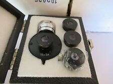 LOT 4 EA WILD SWISS EYEPIECES + FILAR 15X MICROSCOPE OPTICS AS PICTURED #60-A-14