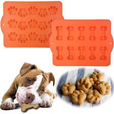 2 Hugs Silicone Dog Treat Pans Bone Paw Pet Baking Molds Freezer Tray Oven Sheet
