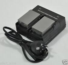 2 BLN-1 Battery+Dual Charger for OMD M-5 M-1 EM5 EM1 E-M5 E-M1 II E-P5 EP5 PEN F