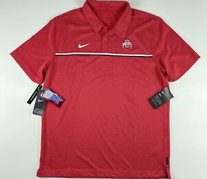 Nike Ohio State Buckeyes Official On Field Polo Golf Shirt CN7860-657 Large $75