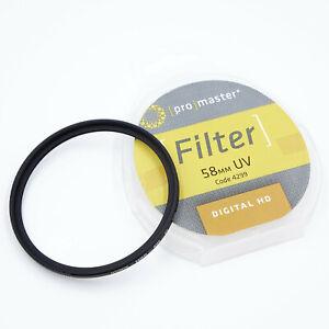 Promaster 58mm UV Digital HD Camera Lens Filter 4299  QDR45