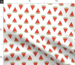 Watermelon Melon Fruit Fruits Summer Stripes Food Spoonflower Fabric by the Yard