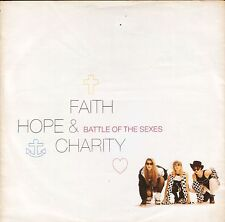 """FAITH HOPE AND CHARITY battle of the sexes YZ 480 uk wea 1990 7"""" PS EX/VG+"""