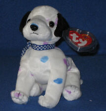 TY DIZZY the DALMATION BEANIE BABY - BLACK EARS/COLORED SPOTS - MINT w/ MINT TAG