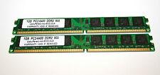 2GB 2x1GB DDR2  PC (Desktop) RAM   1GB PC2-6400U 800MHz   Neu
