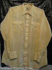 Mesquite Homme Western Perle Snap Cowboy Rodéo Carré Danse Chemise Taille 17 X