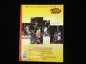 1998 NBA Finals Commemorative Program Chicago Bulls vs. Utah Jazz NM