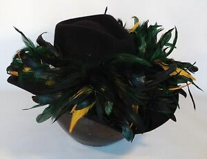 Green Bay Packers Feather Team Colors Cowboy Hat - $100 Gift Card w/ Purchase