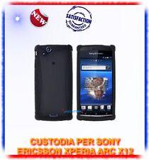 Custodia SILICONE NERO per Sony ericsson Xperia X12 ARC