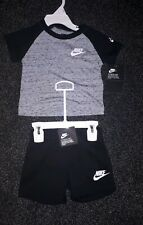 Nike Baby Boy Black Shorts & T Shirt Set AGE 12 months New with tags