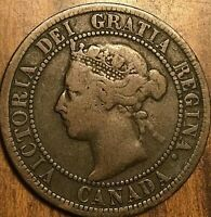 1898 H CANADA LARGE CENT PENNY LARGE 1 CENT COIN