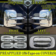 1999-2006 SILVERADO Chrome Door Handle W/O PSK+ Tow Mirror+ Tailgate COVERS 4DR